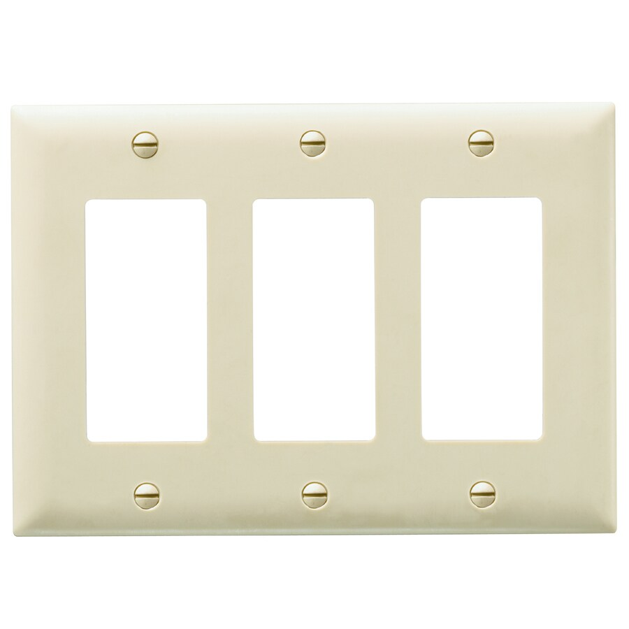 Pass & Seymour/Legrand Trademaster 3-Gang Light Almond Triple Decorator Wall Plate