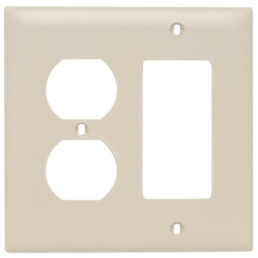 Pass & Seymour/Legrand Trademaster 2-Gang Ivory Double Duplex/Decorator Wall Plate