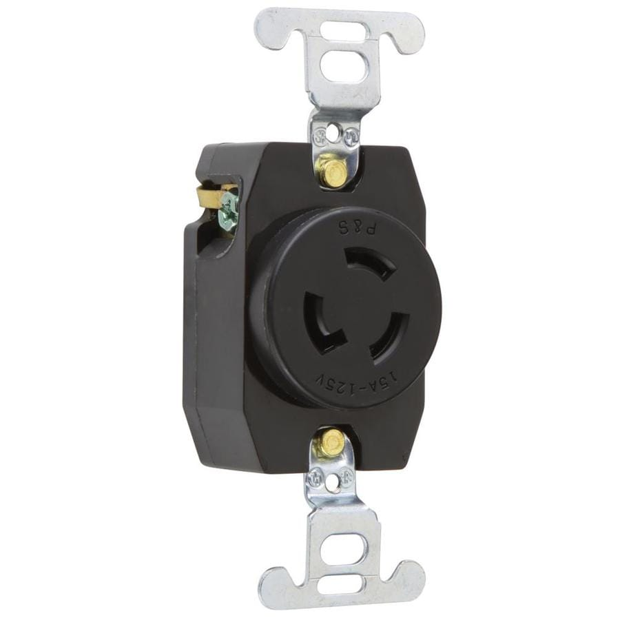 Legrand 15-Amp 125-Volt Black 3-Wire Grounding Connector