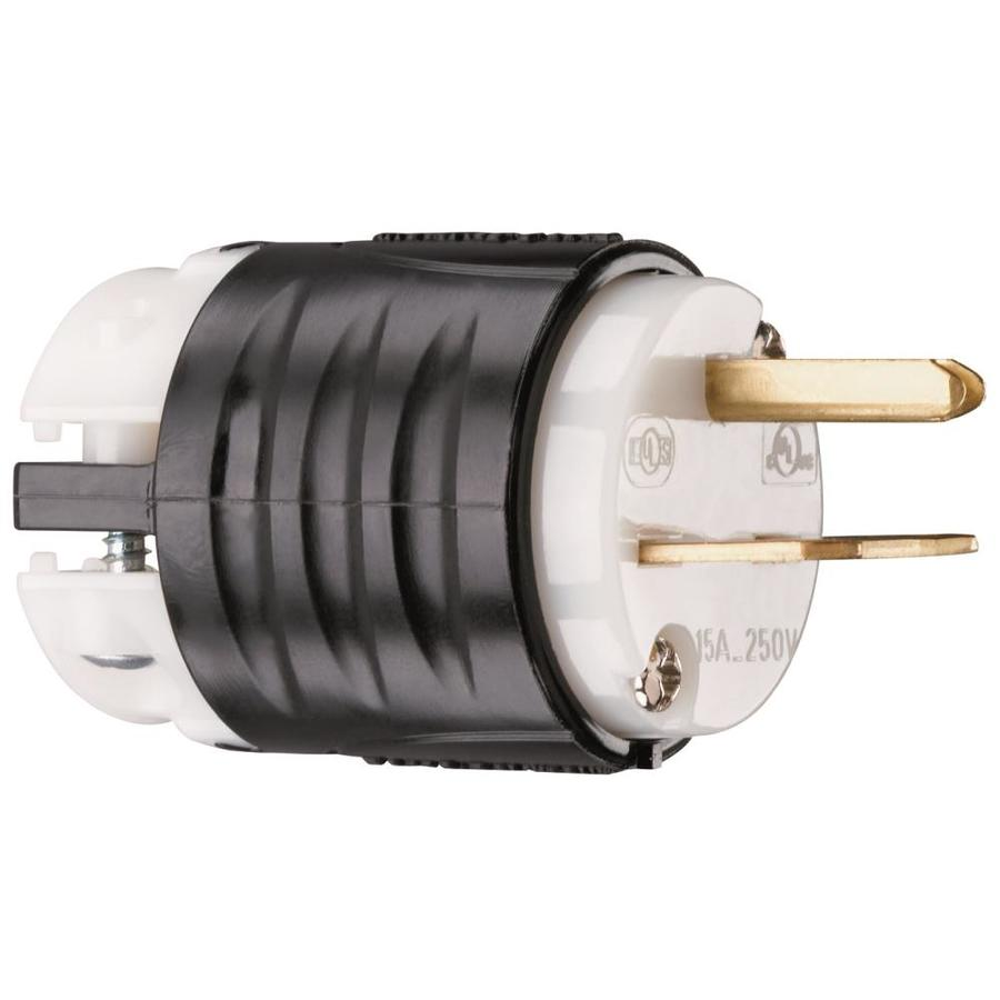 Legrand 15-Amp 250-Volt Black 3-Wire Grounding Plug
