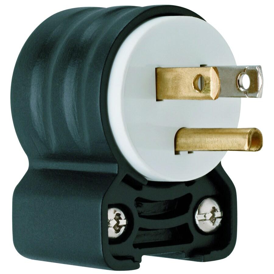 Pass & Seymour/Legrand 15-Amp 125-Volt Black/White 3-Wire Grounding Plug