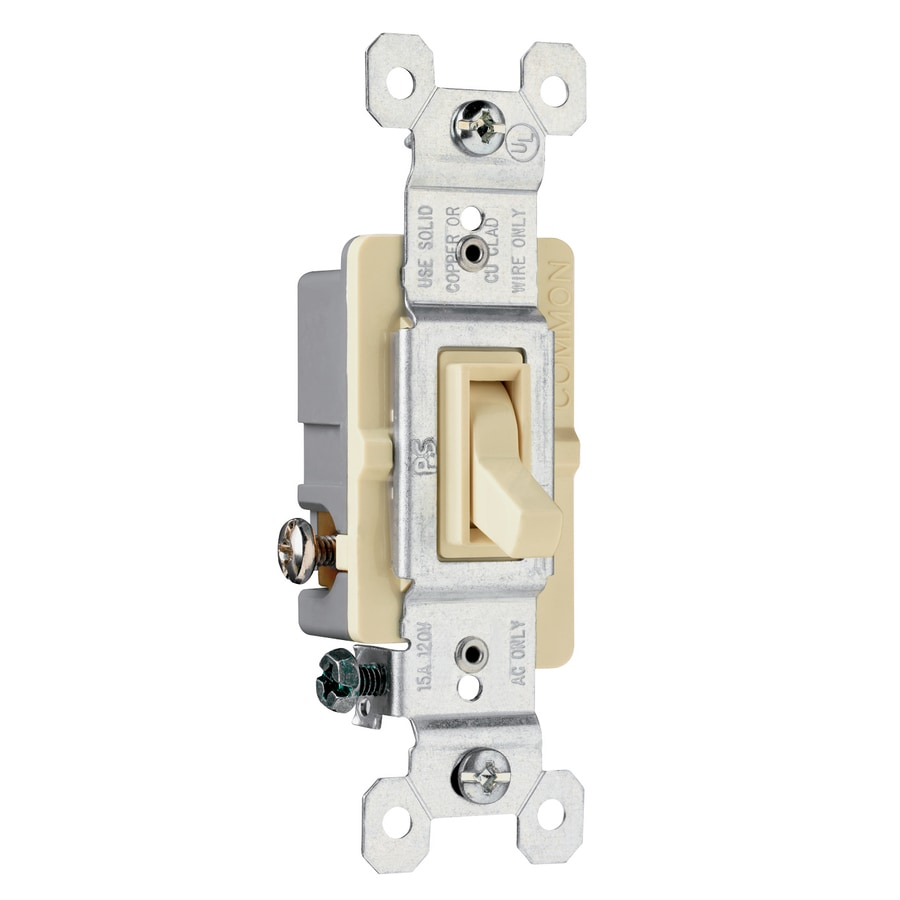 Legrand 15-Amp 3-Way Ivory Indoor Framed Toggle Light Switch