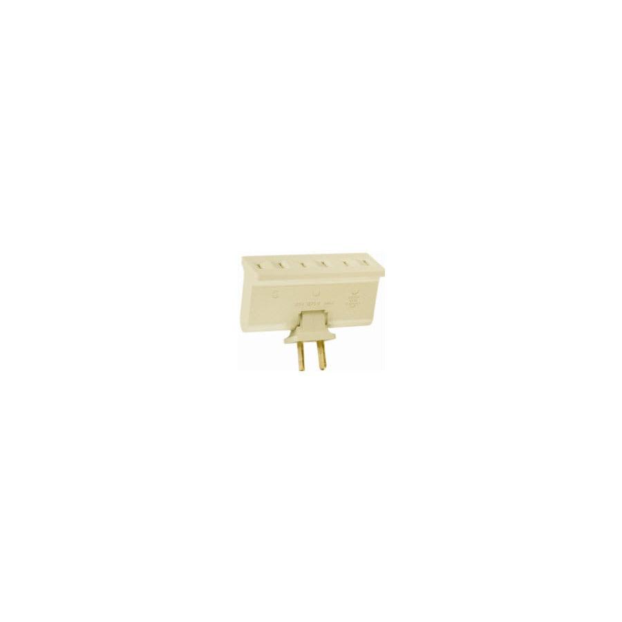 Pass & Seymour/Legrand 2-Wire Single to Triple Ivory Basic Swivel Adapter