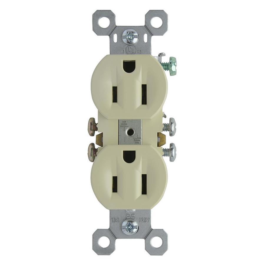 Pass & Seymour/Legrand 15-Amp 125-Volt Ivory Indoor Duplex Wall Outlet