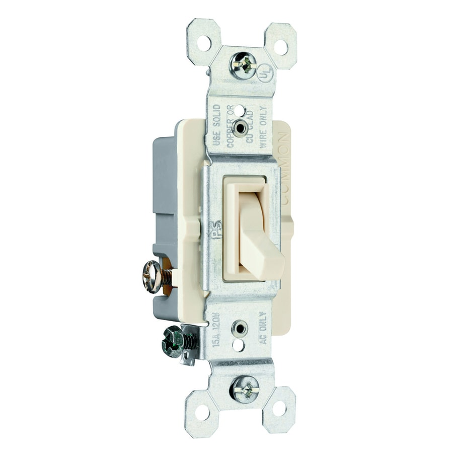Legrand 3-Way Single Pole White Light Switch