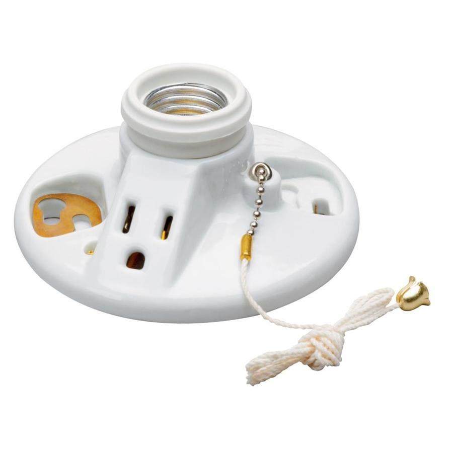 Pass & Seymour/Legrand 60-Watt White Ceiling Socket