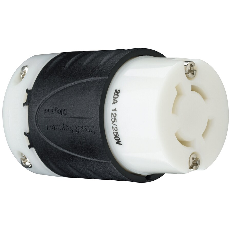 Legrand 20-Amp 250-Volt Black and White 3-Wire Grounding