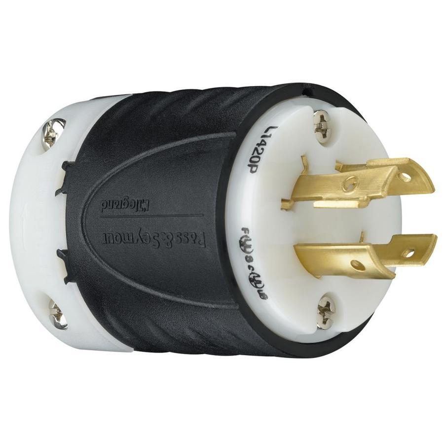 Pass & Seymour/Legrand 20-Amp 120/250-Volt Black 4-Wire Grounding Plug