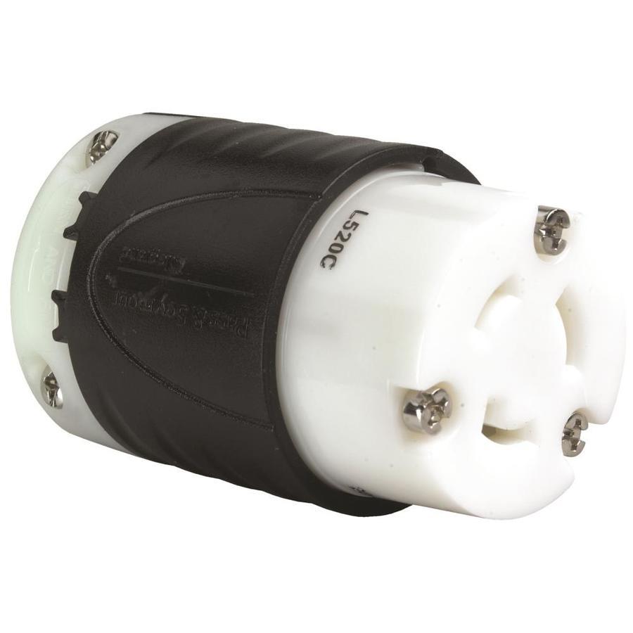 Pass & Seymour/Legrand 20-Amp 125-Volt Black 3-Wire Grounding Connector