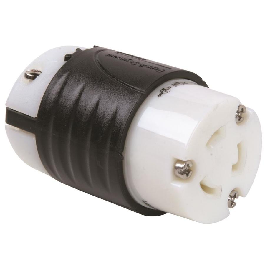 Pass & Seymour/Legrand 20-Amp 250-Volt Black 3-Wire Grounding Connector