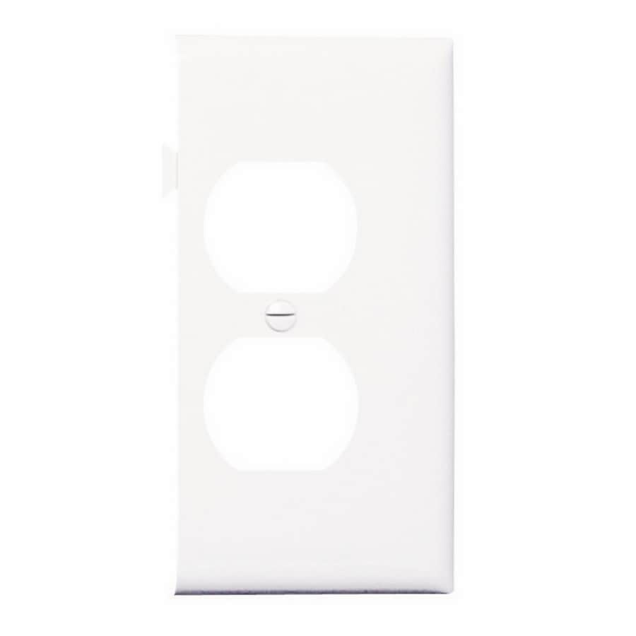 Legrand 1-Gang White Round Wall Plate