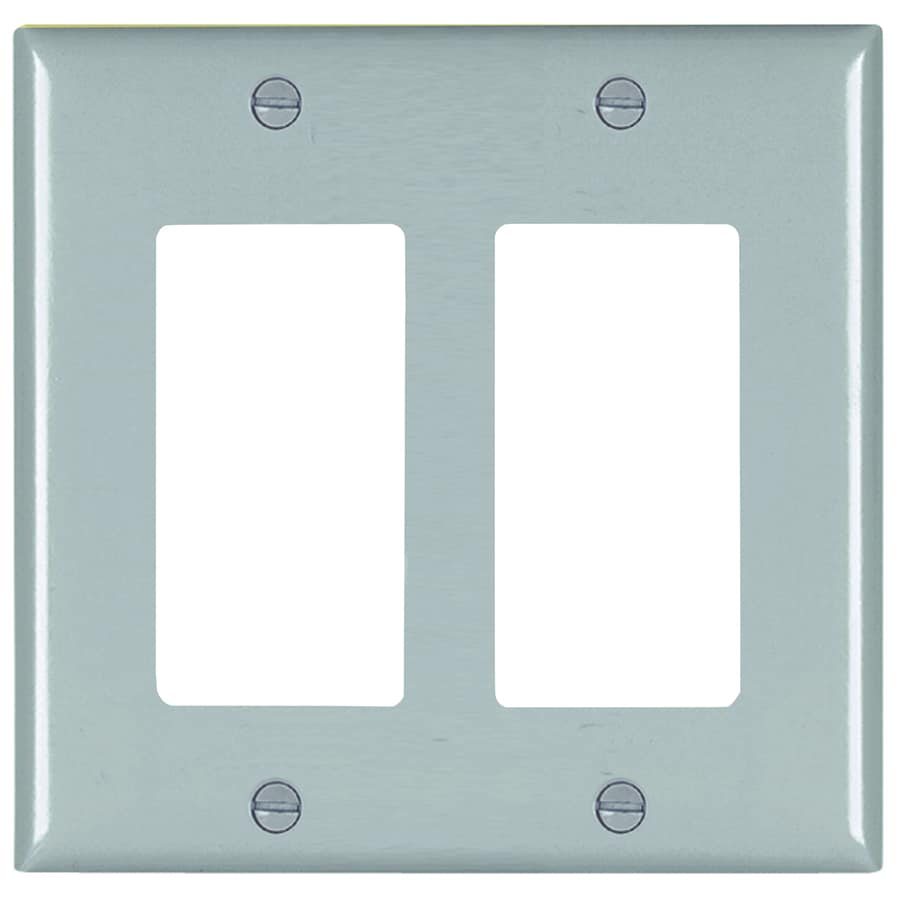 Pass & Seymour/Legrand Trademaster 2-Gang Gray Double Decorator Wall Plate
