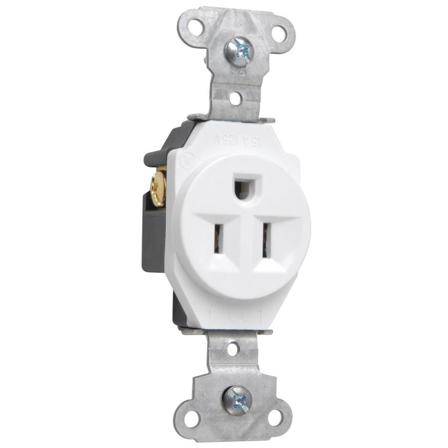 Pass & Seymour/Legrand 15-Amp 125-Volt White Electrical Outlet