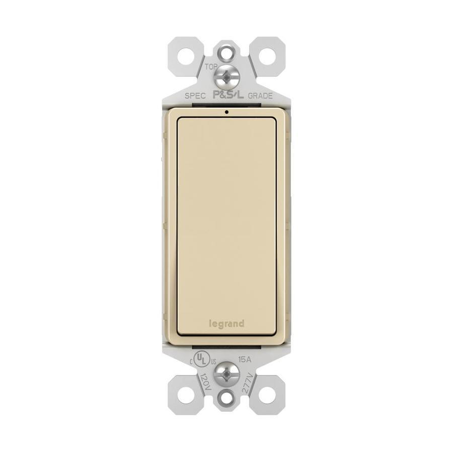 Pass & Seymour/Legrand Single Pole Ivory Light Switch