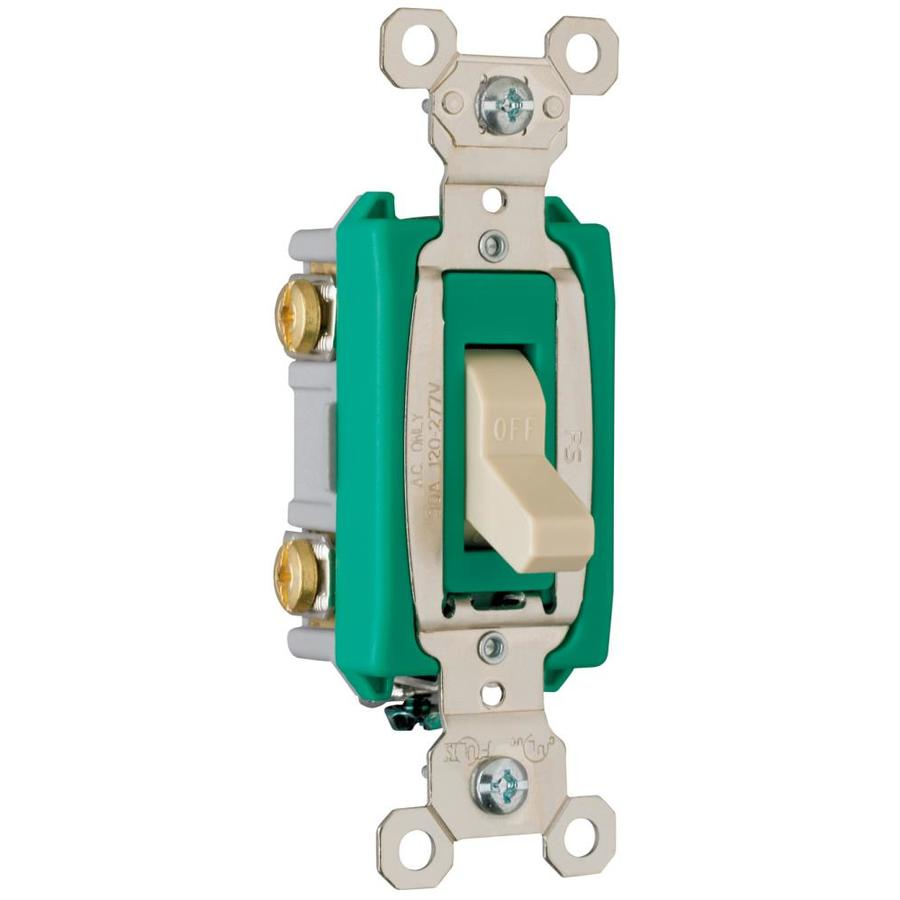 Legrand 30-Amp Double Pole Ivory Indoor Toggle Light Switch