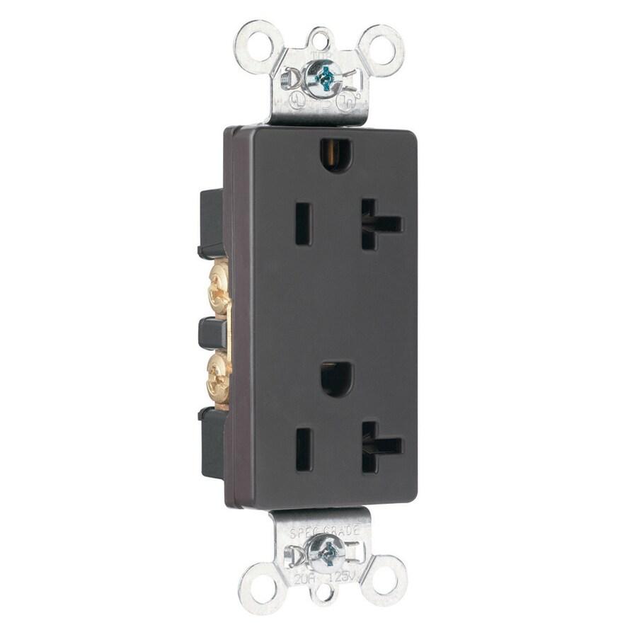 Pass & Seymour/Legrand 20-Amp 125-Volt Gray Duplex Electrical Outlet