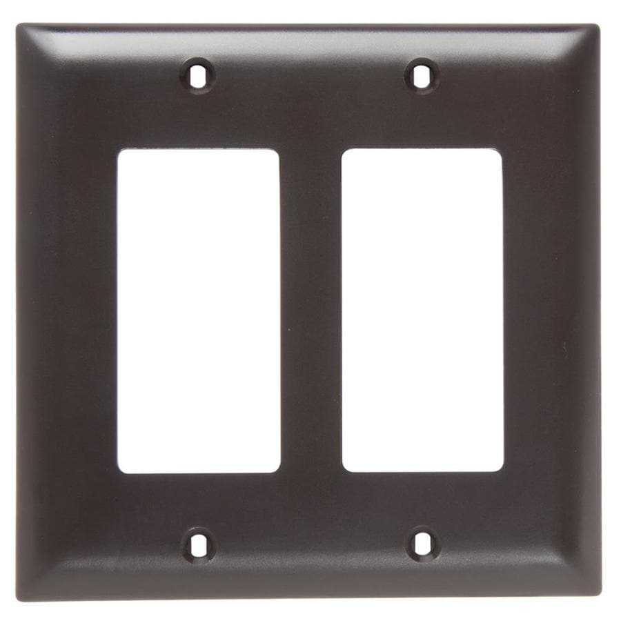 Legrand Trademaster 2-Gang Brown Double Decorator Wall Plate