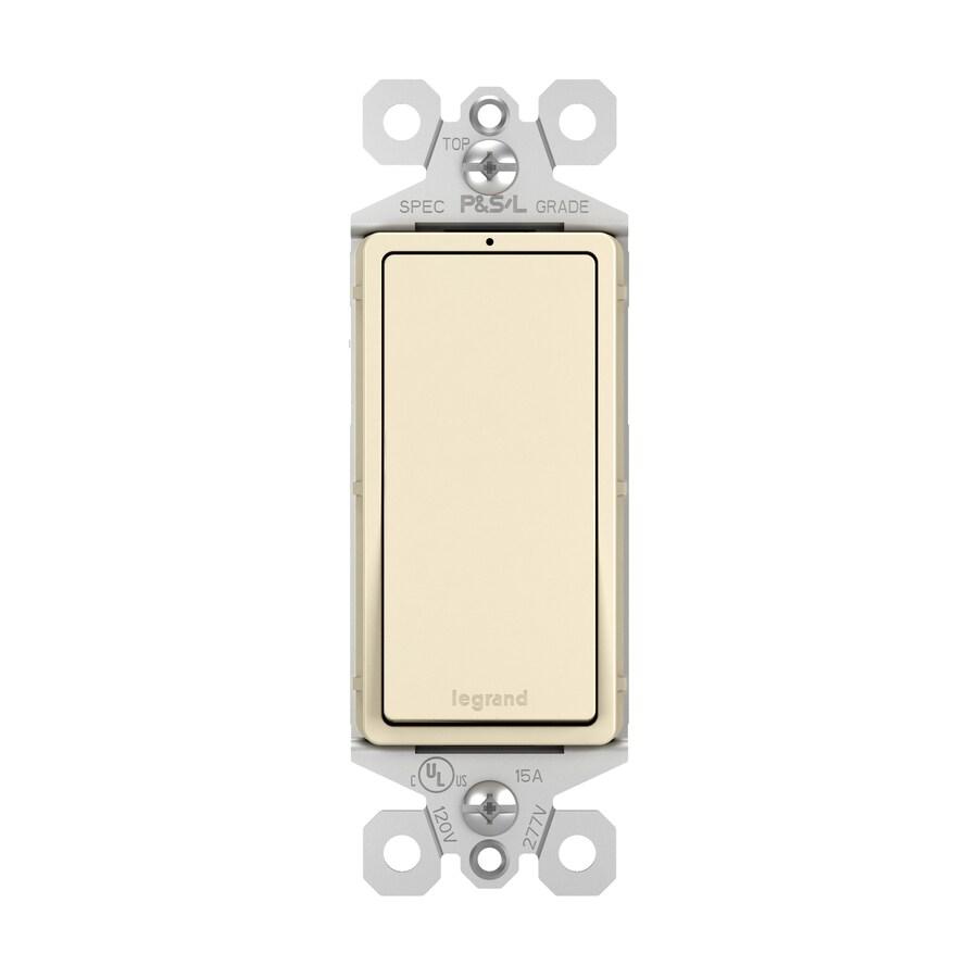 Pass & Seymour/Legrand 15-Amp Light Almond 3-Way Decorator Light Switch