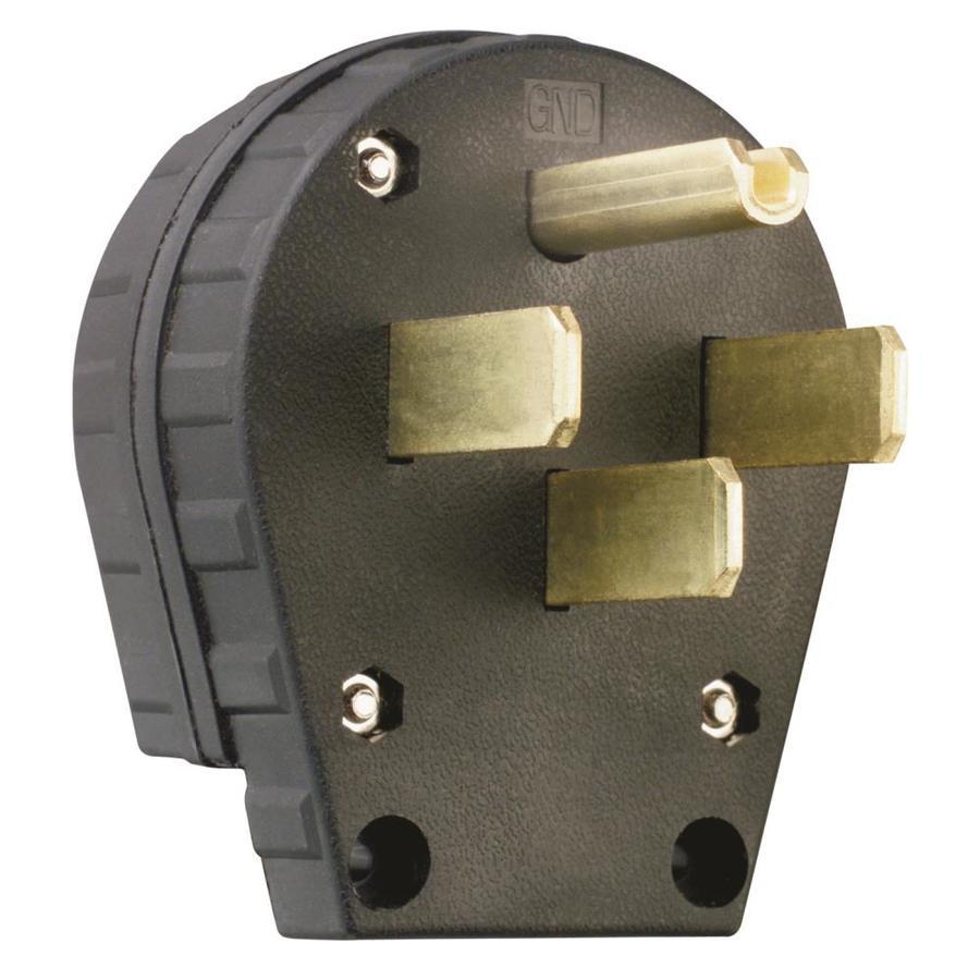 Pass & Seymour/Legrand 30/50-Amp 125/250-Volt black 4 wire angle plug