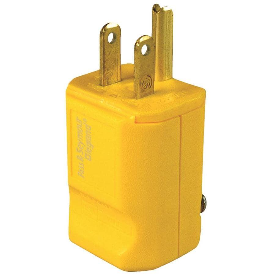 Pass & Seymour/Legrand 15-Amp 125-Volt Yellow 3-Wire Grounding Plug