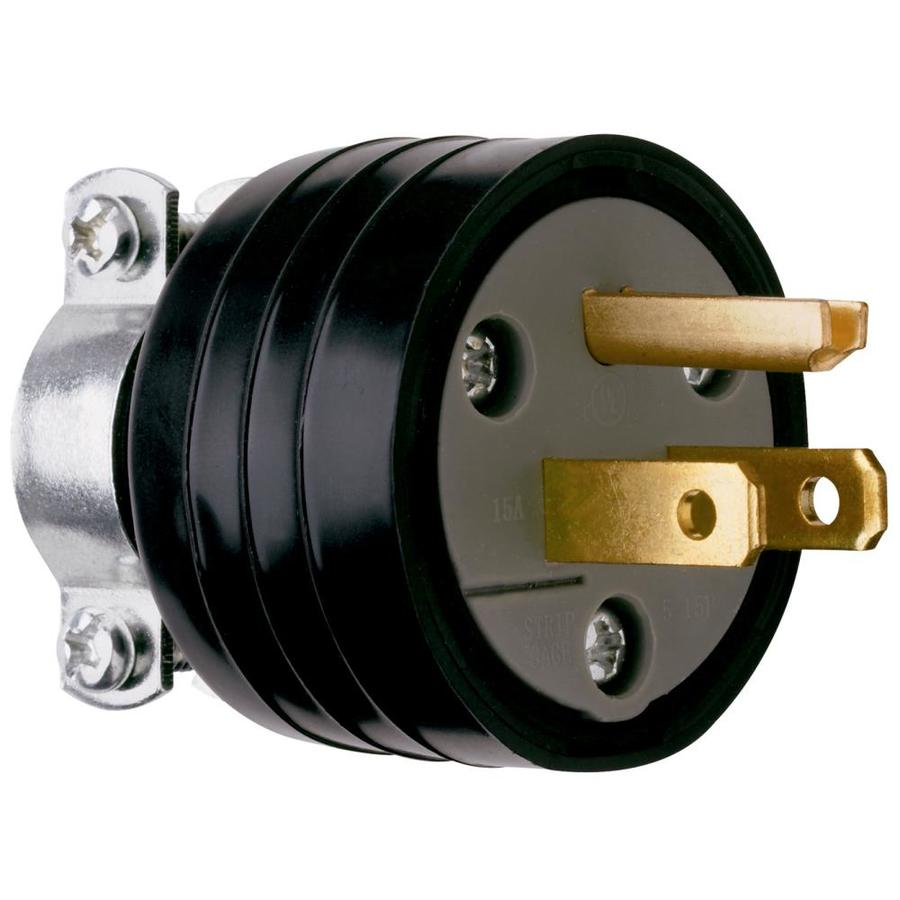 Pass & Seymour/Legrand 15-Amp 125-Volt black 3 wire plug