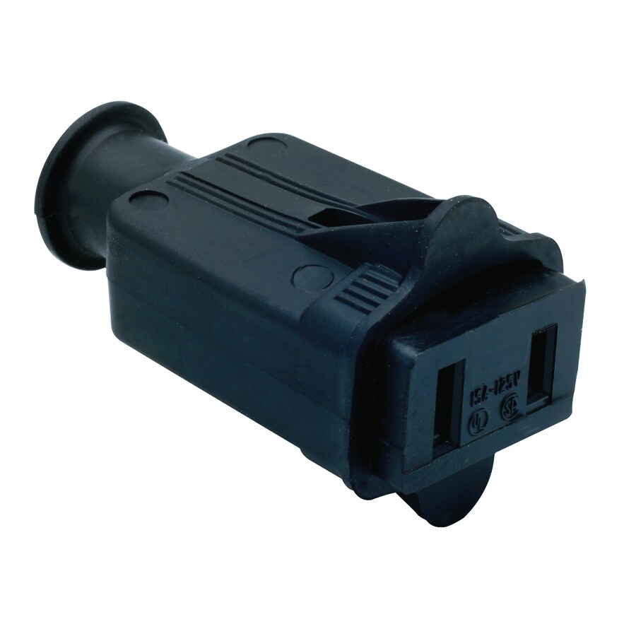 Pass & Seymour/Legrand 15-amp 125-Volt black 2 wire connector