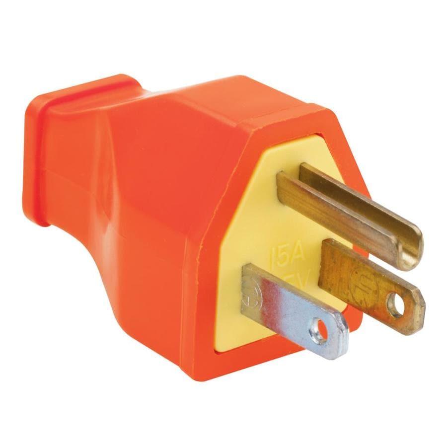 Pass & Seymour/Legrand 15-Amp 125-Volt orange 3 wire plug