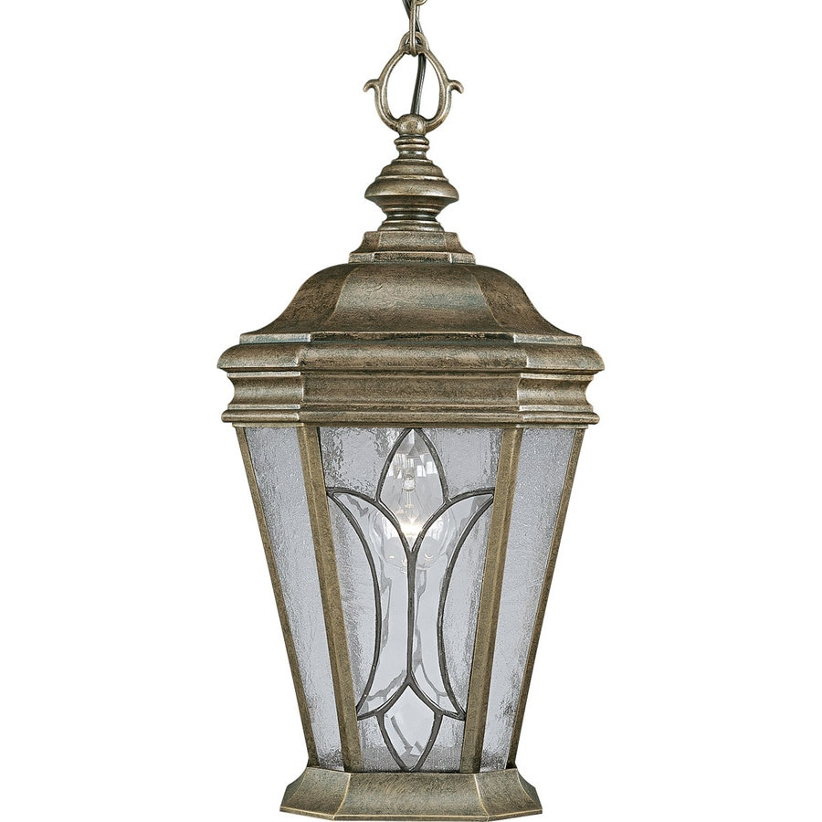 Progress Lighting Cranbrook 20.5-in Burnished Chestnut Outdoor Pendant Light