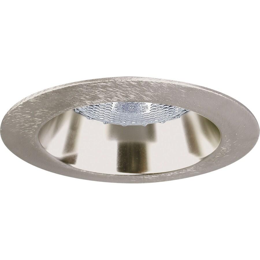 Progress Lighting Brushed Nickel Open Recessed Light Trim (Fits Housing Diameter: 4-in)