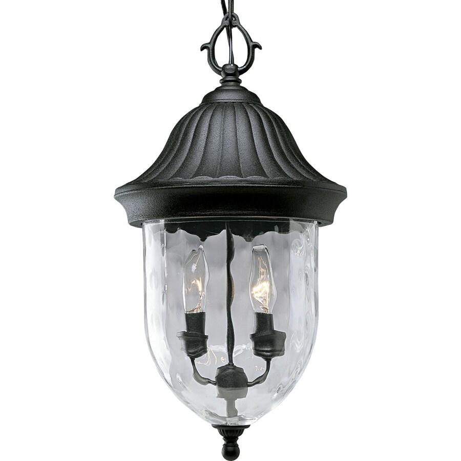 Progress Lighting Coventry 19.25-in Textured Black Outdoor Pendant Light