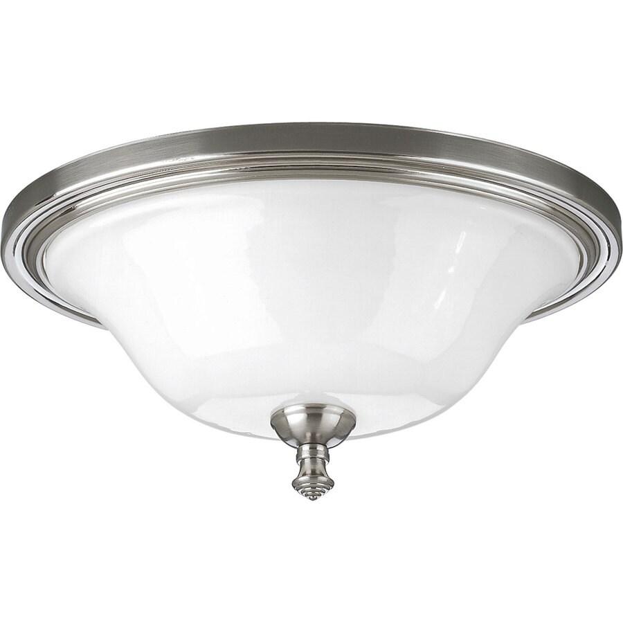 Progress Lighting Victorian 16-in W Brushed Nickel Ceiling Flush Mount Light