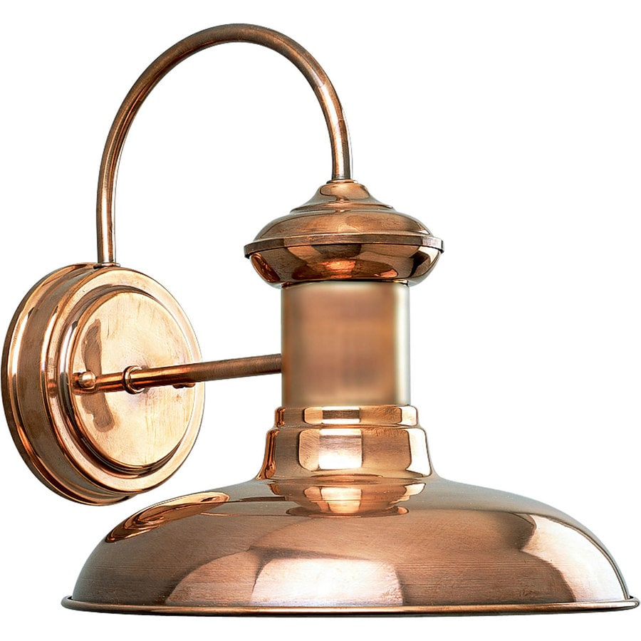 Progress Lighting Brookside 10.75-in H Copper Outdoor Wall Light
