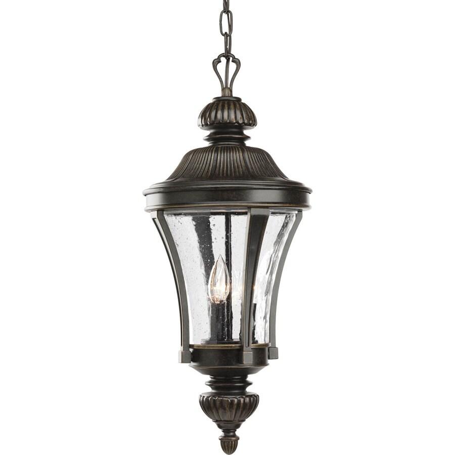 Progress Lighting Nottington 23.75-in Forged Bronze Outdoor Pendant Light