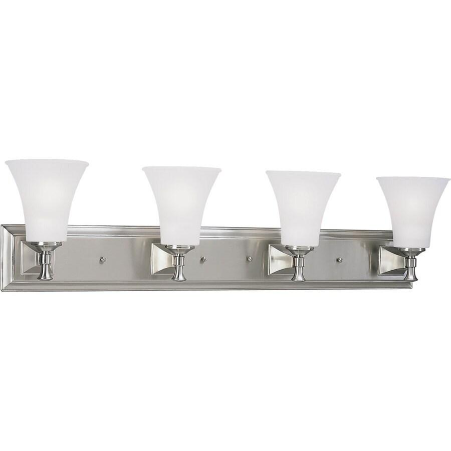 Progress Lighting Fairfield 4-Light Brushed Nickel Bell Vanity Light
