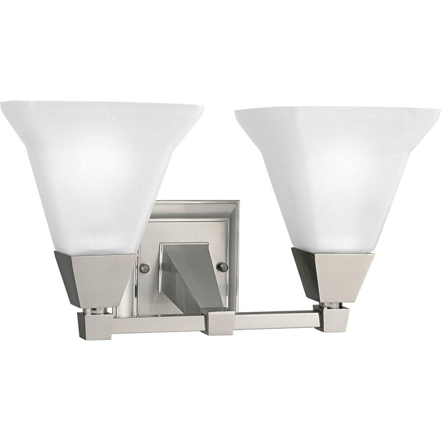 Progress Lighting Glenmont 2-Light Brushed Nickel Square Vanity Light