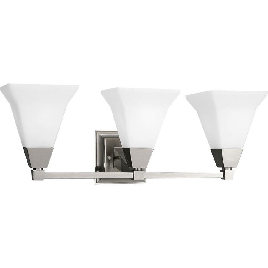 Progress Lighting Glenmont 3-Light Brushed Nickel Square Vanity Light