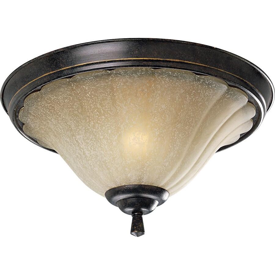 Progress Lighting Le Jardin 15-in W Espresso Ceiling Flush Mount Light
