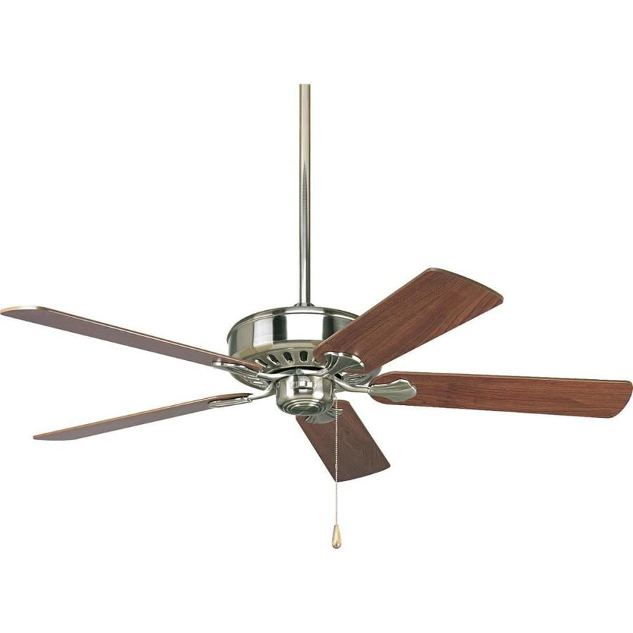 Progress Lighting AirPro Performance 52-in Brushed Nickel Downrod or Close Mount Indoor Ceiling Fan ENERGY STAR