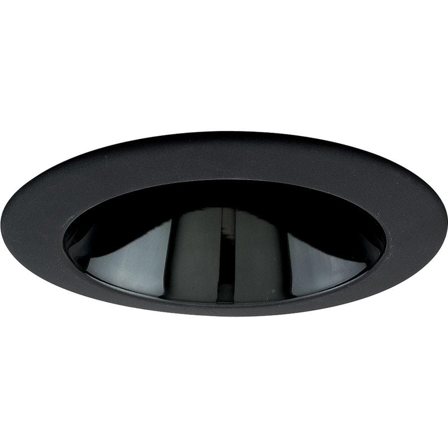 Progress Lighting Black Alzak Reflector Recessed Light Trim (Fits Housing Diameter: 4-in)