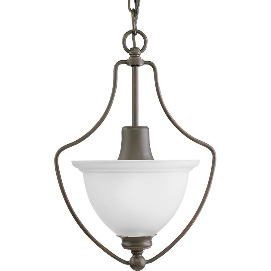 Progress Lighting Madison 9.5-in 1-Light Brushed Nickel Etched Glass Shaded Chandelier