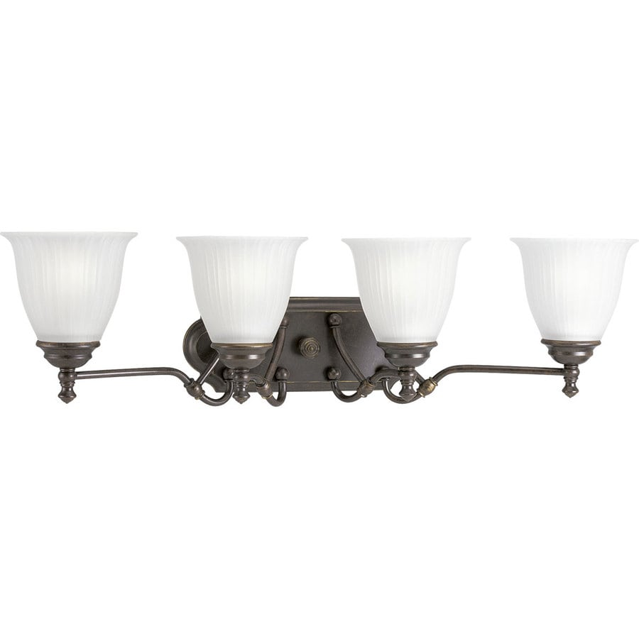 Progress Lighting Renovations 4-Light Forged Bronze Bell Vanity Light