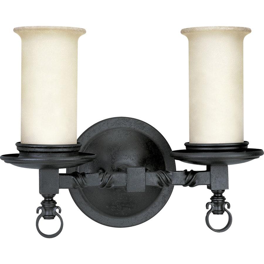 Progress Lighting Santiago 2-Light Forged Black Bell Vanity Light