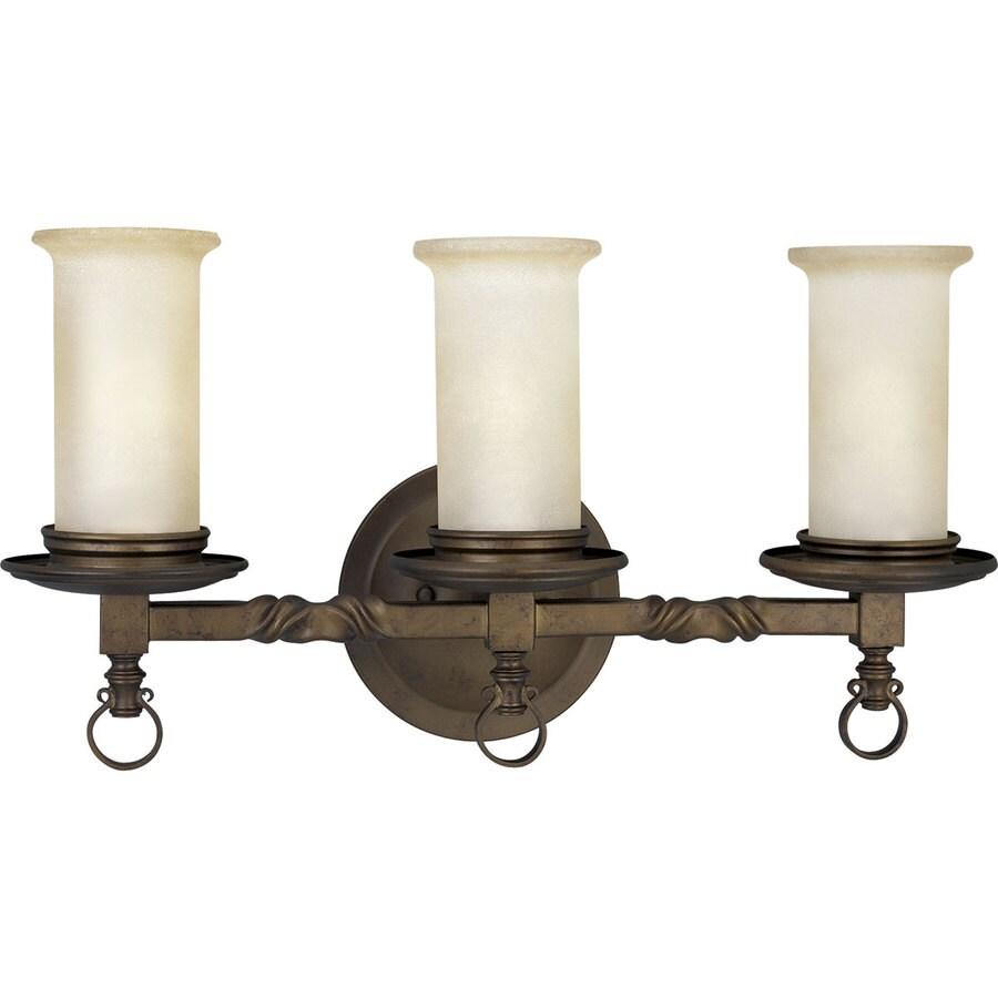 Progress Lighting Santiago 3-Light Roasted Java Bell Vanity Light