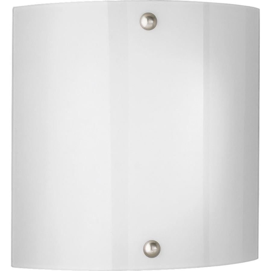 Progress Lighting 11.25-in W 2-Light Brushed Nickel Pocket Hardwired Wall Sconce