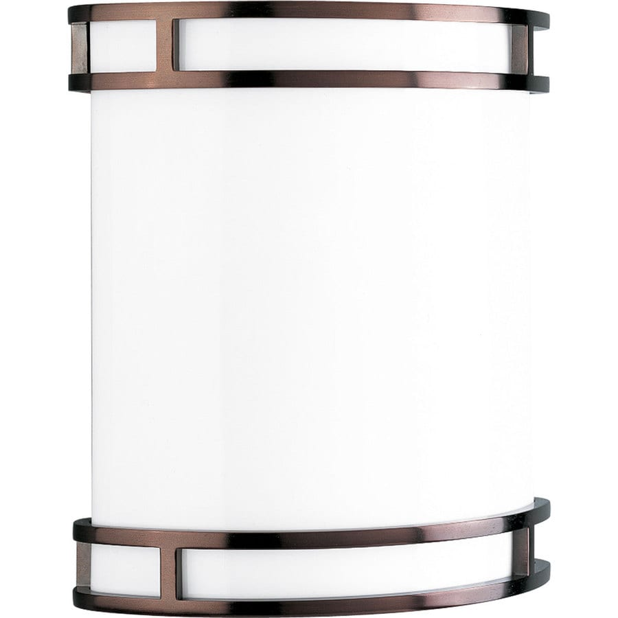 Wall Lamps From Lowes : Shop Progress Lighting 9.37-in W 1-Light Urban Bronze Pocket Hardwired Wall Sconce at Lowes.com