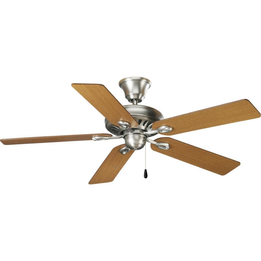Progress Lighting AirPro Signature 52-in Antique Nickel Downrod or Close Mount Indoor Ceiling Fan ENERGY STAR