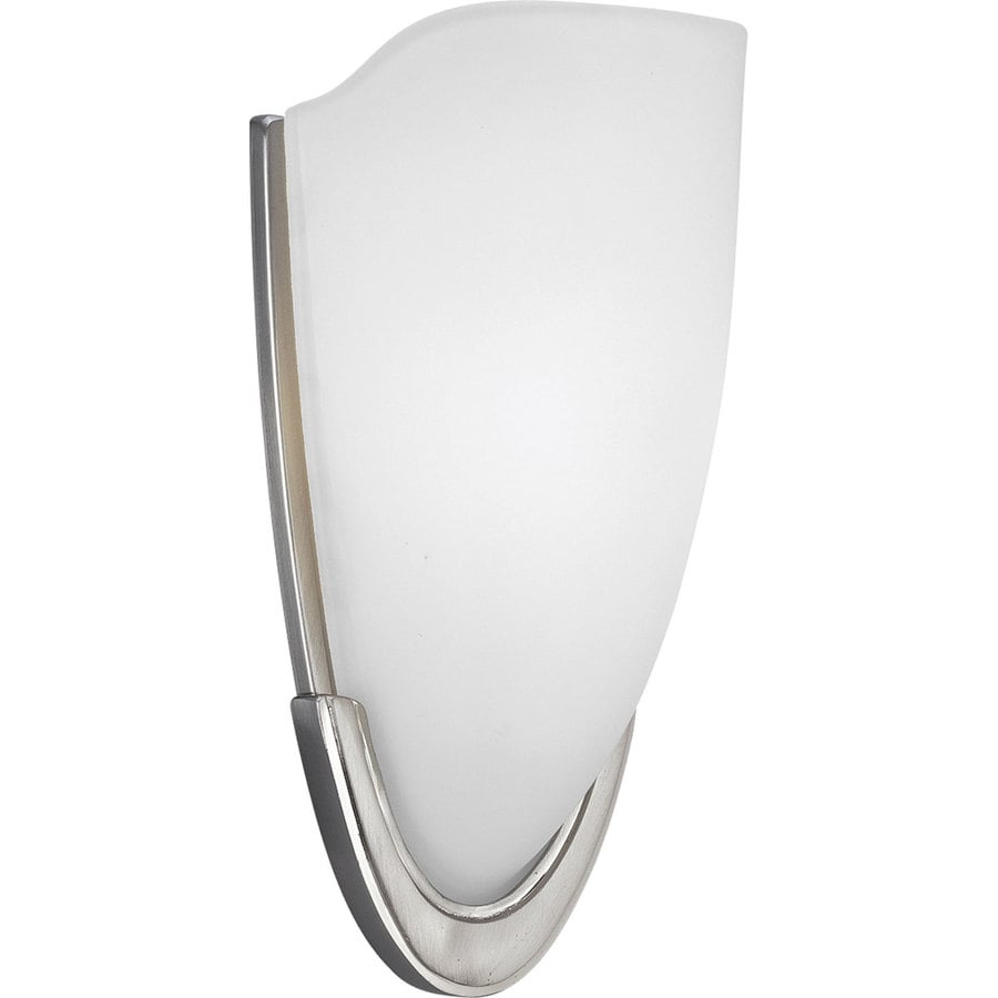 Progress Lighting 6.5-in W 1-Light Brushed Nickel Pocket Hardwired Wall Sconce