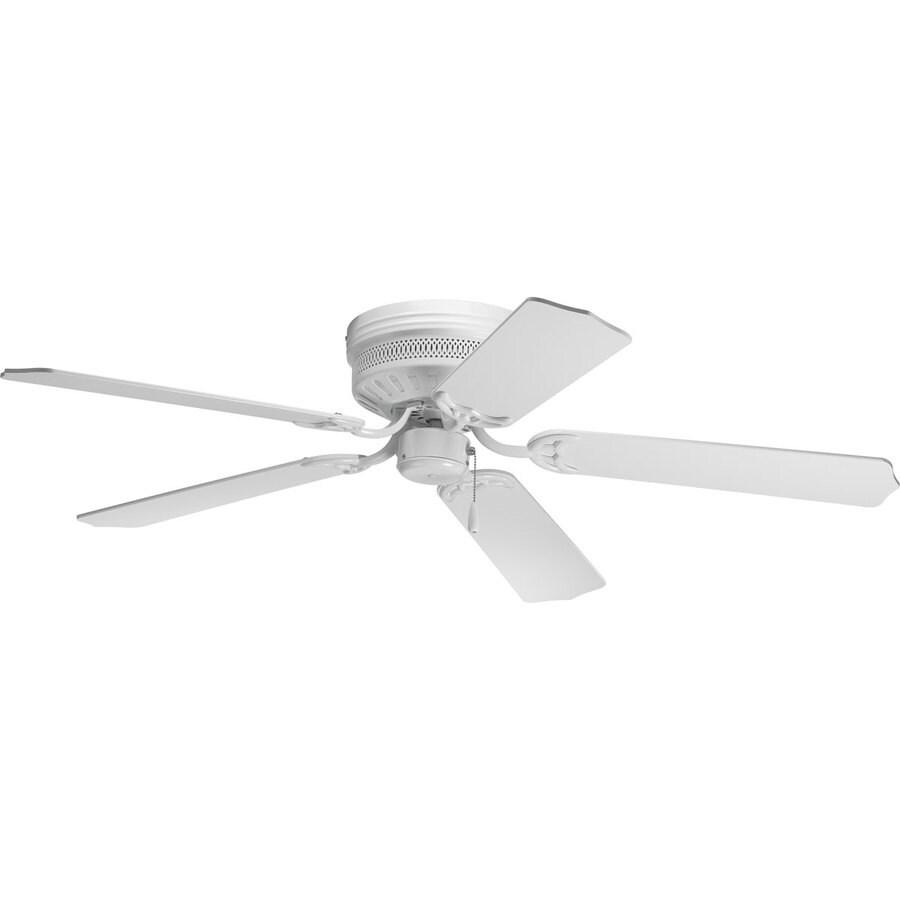 Progress Lighting AirPro Hugger 52-in White Flush Mount Indoor Ceiling Fan