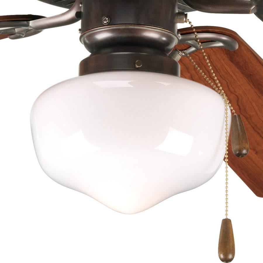 Shop progress lighting airpro 1 light antique bronze incandescent ceiling fan light kit with - Vintage ceiling fan with light ...