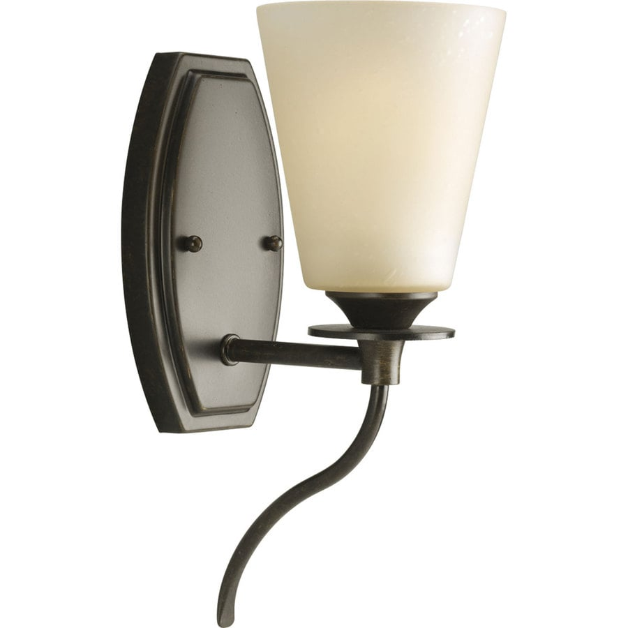 Progress Lighting Cantata 4.75-in W 1-Light Forged Bronze Arm Hardwired Wall Sconce